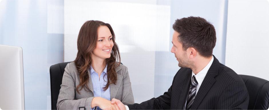 two people doing hand shake